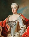 Called Maria Anna Josepha of Bavaria (1734-1776), but probably portrait of Maria Anna von Pfalz-Sulzbach by Georg Desmarées (auctioned) Wm