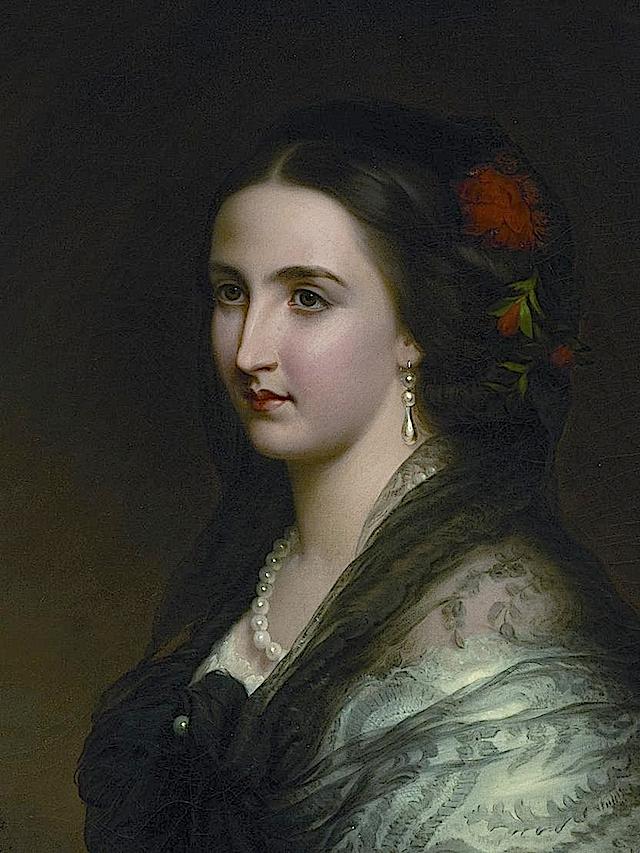 1859 Princess Charlotte by Franz Schrotzberg (Schloß Artstetten - Artstetten-Pöbring, Niederösterreich Austria) From theesotericcuriosa.blogspot.com