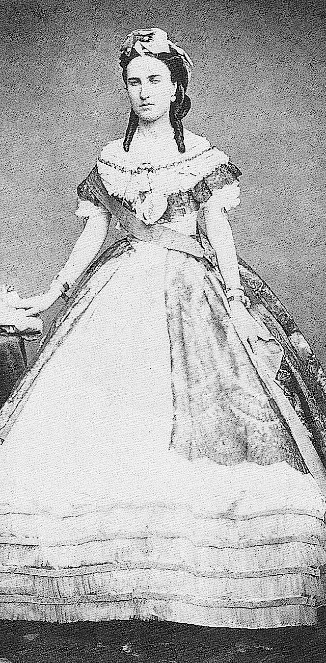Carlota wearing an 1860s evening dress ATRxJoke 7Feb11