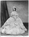 Carlota in full crinoline - from the front