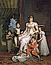 1808 Caroline Murat, Queen of Naples, and Her Children by François Pascal Simon Gérard (Fontainebleau)