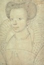 Catherine de Clèves drawing, Madame de Guise by ? (location unknown to gogm)