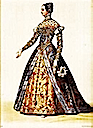 Catherine de Medici wearing a dress with French sleeves