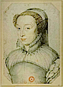 1559 or after Catherine de Medici widowed by François Clouet (USA Library of Congress)