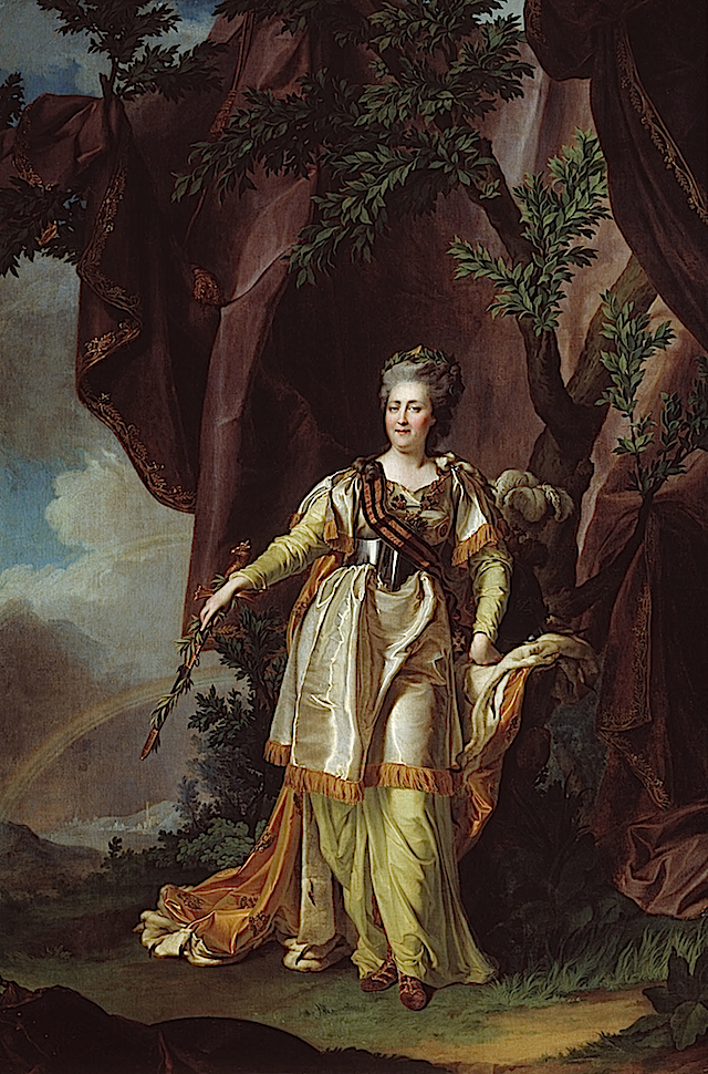 Catherine II by Dmitri Levitsky (location unknown to gogm)