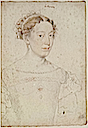 Unknown woman, probably a Lady-in-Waiting to Catherine de Medici by studio of François Clouet (Musée Condé, Chantilly)