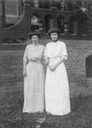 Cecilie with her sister Alexandrine