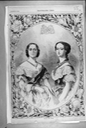 1855 Queen Victoria and Empress Eugénie
