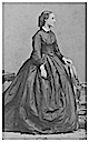 Charlotte of Belgium standing in crinoline day dress by Disdéri