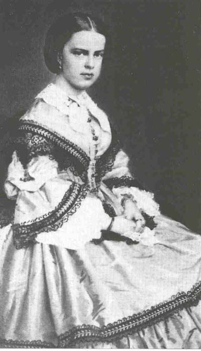 Clotilde Bonaparte wearing a day dress