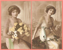Colorized photos of Lily Elsie holding bouquet From pinterest.se-brickertkin-lily-elsie-
