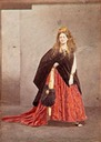 1864 Comtesse de Castiglione as the Queen of Etruria by Léopold-Ernest Mayer (Château Compiègne, Compiègne)