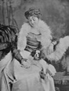 Constance Edwina Grosvenor (formerly Cornwallis West), Duchess of Westminster with her dog by ? From Google search detint X 1.5