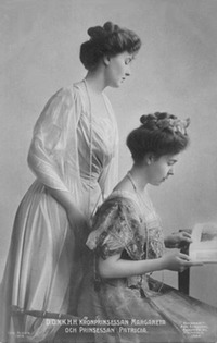 Crown Princess Margaret of Sweden and her sister Princess Patricia