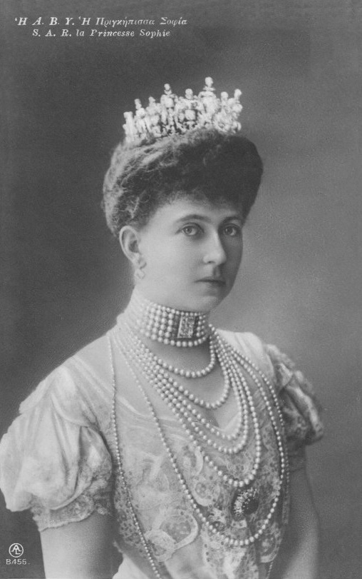Crown Princess Sophie of Greece, née Princess of Prussia detint