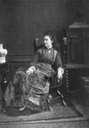 Crown Princess Victoria seated in late 1870s dress