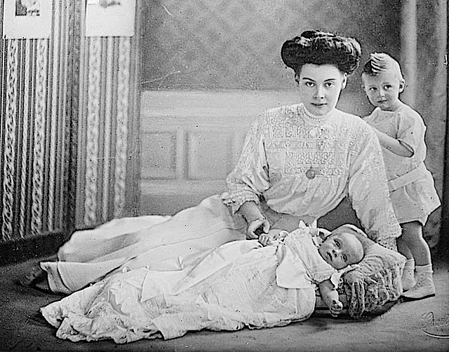 Crown Princess of Germany and her two children LCBain