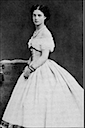 Dagmar wearing a crinoline as an adolescent