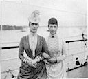 Dagmar and Alexandra on ship
