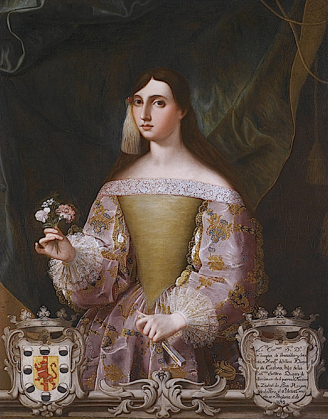 Doña Josefa Benavides, Marquesa de Villena, wife of Don Juan Manuel López Pacheco (1648-1725), 8th Duke of Escalona and 8th Marquis of Villena by Alonso Miguel de Tovar Wm