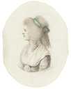 Drawing of Elisa von der Recke by Daniel Nikolaus Chodowieki (auctioned by Sotheny's)