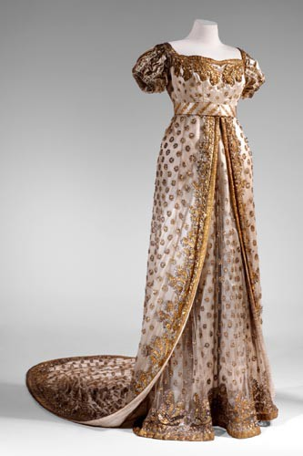 1810 Dress Worn To The Wedding Of Napoleon Bonaparte And Marie Louise Mus E D Eckm Hl Auxerre