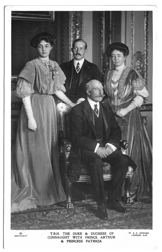 Duke, Duchess, and Patricia by W. & D. Downey detint
