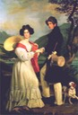 Duke Max and Duchesse Ludovika in Bavaria by Joseph Karl Stieler (location unknown to gogm)