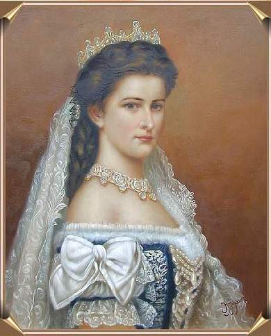 1867 Sisi in Hungarian coronation dress after Georg Raab (location unknown to gogm)