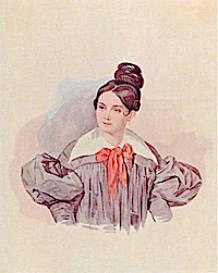 Helen G. Chertkova, née Countess Stroganov by Petr Feodorovich Sokolov (location unknown to gogm) From gorod.tomsk.ru:index-1252902056