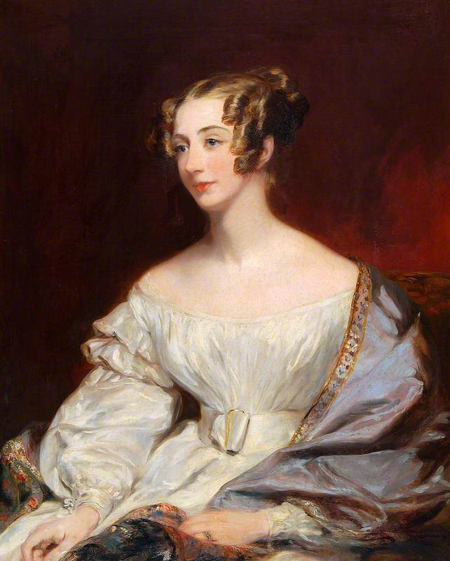 Eleonora Long, née Montagu Poore (c.1811–1900) by Margaret Sarah Carpenter (Colchester and Ipswich Museums Service, specific location unknown to gogm) # 276136 bbc.co