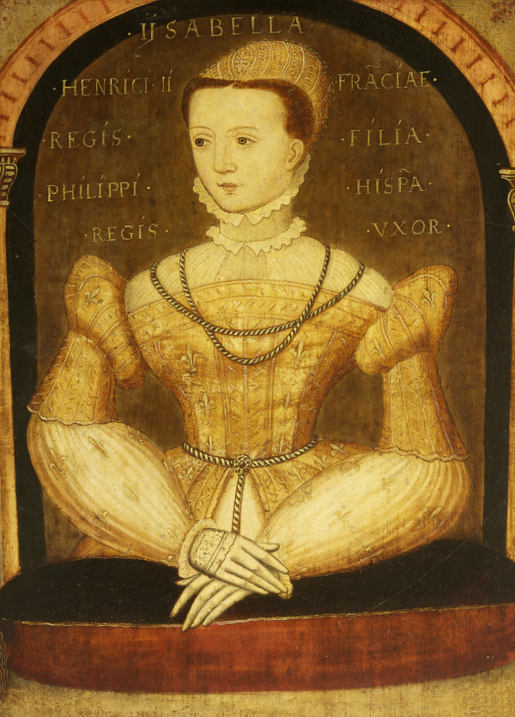 Elisabeth de Valois, Queen of Spain by circle of François Clouet From nationaltrustcollections.org.uk:object:21093