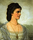 1914 Posthumous portrait of Empress Elisabeth by H. Schminher (location unknown to gogm)