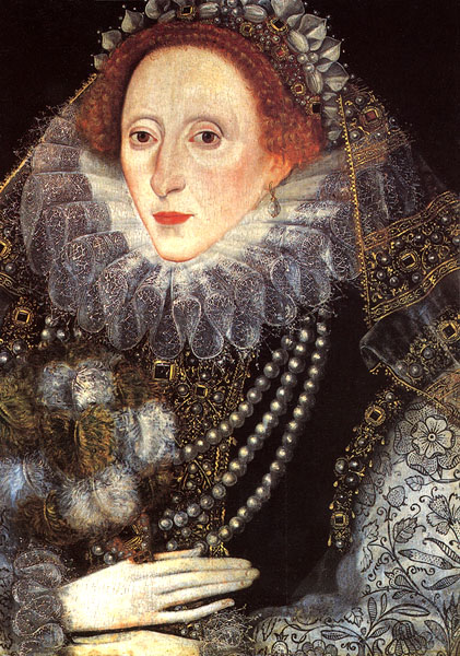 Elizabeth I with a fan by unknown (Royal Collection)