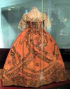 Elizabeth of Russia's dress shown at State Tretyakov Gallery's Elizabeth Petrovna and Moscow (exhibition 2010) front view