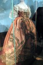 Elizabeth of Russia's dress shown at State Tretyakov Gallery's Elizabeth Petrovna and Moscow (exhibition 2010) side view