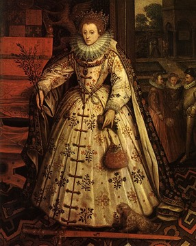 "1585 The ""Welbeck,"" ""Wanstead,"" or ""Peace"" portrait by Marcus Gheeraerts the Elder"