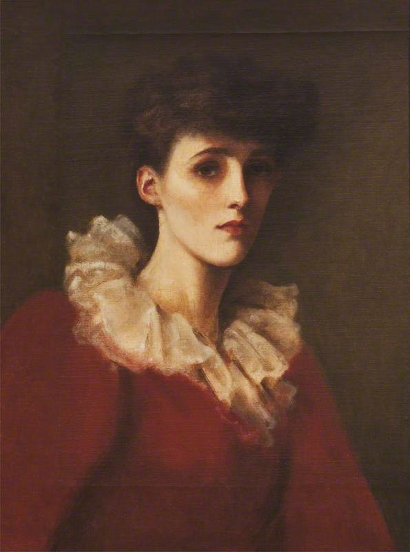 Emmeline 'Nina' Mary Elizabeth Welby-Gregory (1867–1955), Mrs Henry John Cockayne-Cust in the style of John Collier (Belton House - Grantham, Lincolnshire UK) bbc.co
