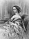 1854 Empress Eugénie print after Winterhalter