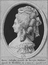 Engraved portrait of Marie Josephine Louise of Savoy by ? (Bibliothèque nationale de France - Paris France)