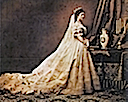 1867 Elisabeth in Hungarian court dress by Worth photo by Emil Rabending