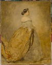 "1856 Study of Princess Mathilde for ""Bapteme du Prince imperial"" by Thomas Couture (Chateau Compiegne, Compiegne)"