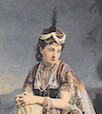 Eugénie as an Asian queen