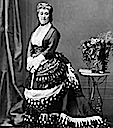 1872 Empress Eugenie in Bustle Dress
