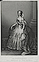Print of Empress Eugénie in court dress