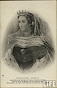 Empress Eugénie wearing tiara, veil, and robes LIFE