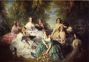 1855 Eugénie, Empress of the French, with her Ladies-in-Waiting by Franz Xavier Winterhalter (Musée National du Château de Compiègne)