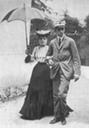 Eulalia walking with King Alfonso XIII