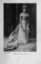 Eulalia wearing court dress photographed by Franzen