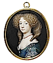 Frances Jennings, Countess of Tyrconnel, sister of Sarah, Duchess of Marlborough attributed to Richard Gibson (Victoria and Albert Museum - London UK)
